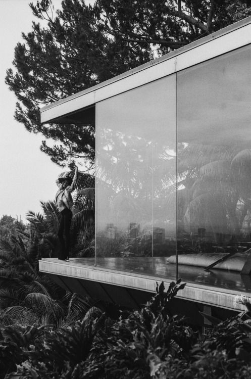 "architectureandfilmblog: "" Sheats-Goldstein Residence, John Lautner, 1963. Theatrical modernism from Hollywood's favourite architect. This building has featured in numerous films, including THE BIG LEBOWSKI (1998), CHARLIE'S ANGELS FULL THROTTLE..."