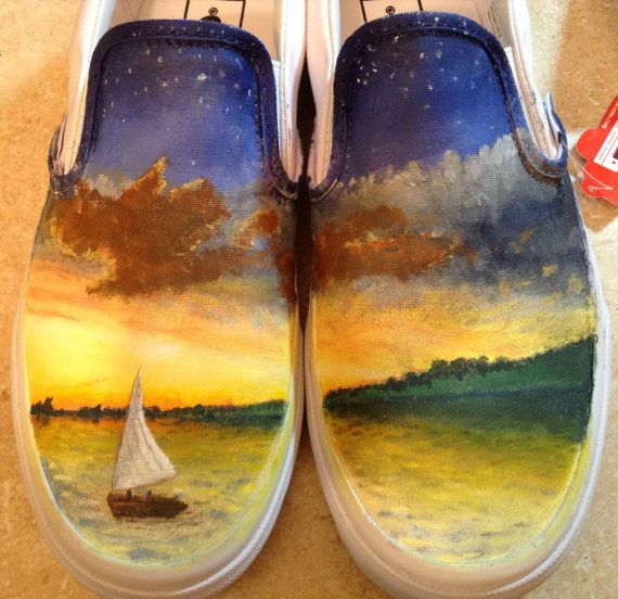 Beautiful.. Absolutely beautiful. Owl City All Things Bright and Beautiful Custom Hand-painted Shoes
