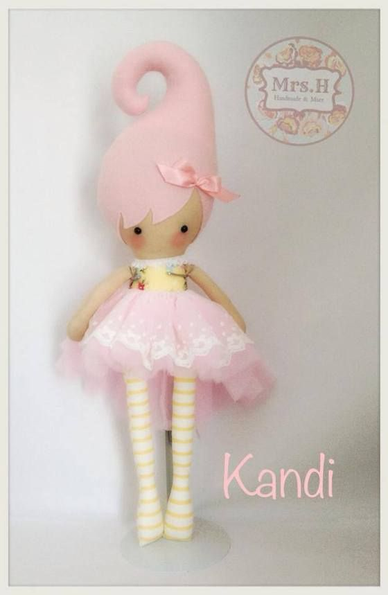 Image of CUSTOM KANDI ~ Handmade doll