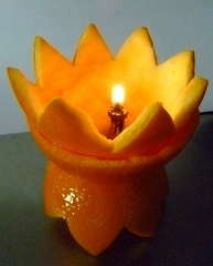 My attempt at making an Orange lamp :)