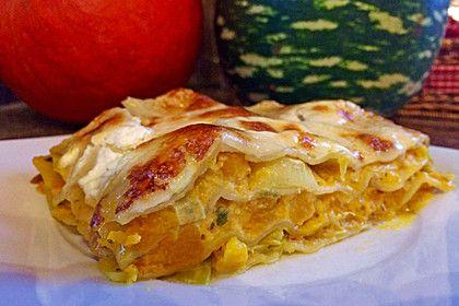 Vegetarische Kürbis - Mangold - Lasagne 1
