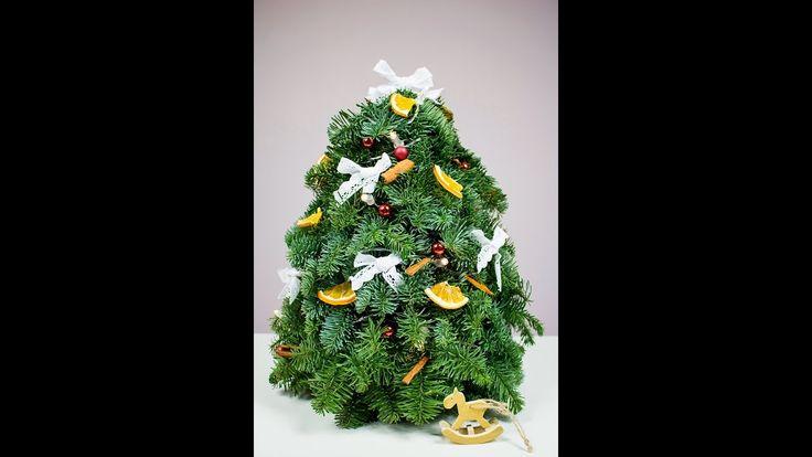 Choinka z gałązek jodły. Jak zrobić choinkę? DIY christmas tree. How to ...