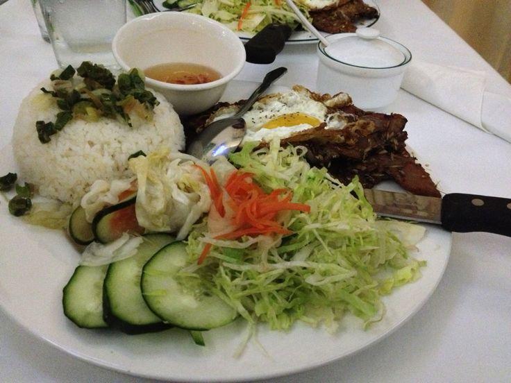 Always down for lemongrass meat - Miss Saigon Vietnamese Restaurant in San Francisco, CA
