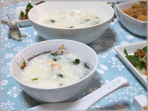 中国野菜を使った帆立の中華粥 by ちるちる | レシピサイト「Nadia ...