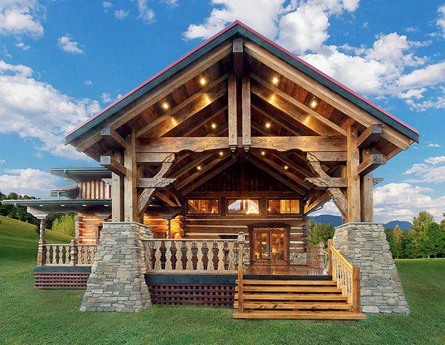 Уникальный дом ручной рубки из красного канадского кедра | Деревянные дома ручной рубки | Журнал «Деревянные дома»