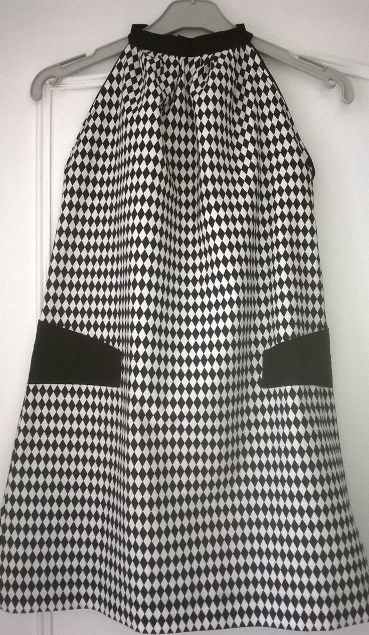 Produit pour une commande.. Robe tour de cou noir et blanc en coton pour 10/12 ans : Mode filles par c-mipolekfait                                                                                                                                                                                 Plus