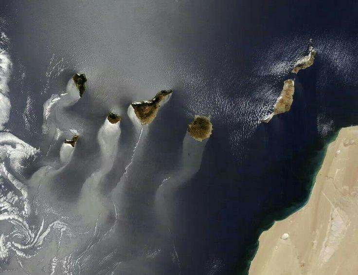 Canarias, foto NASA