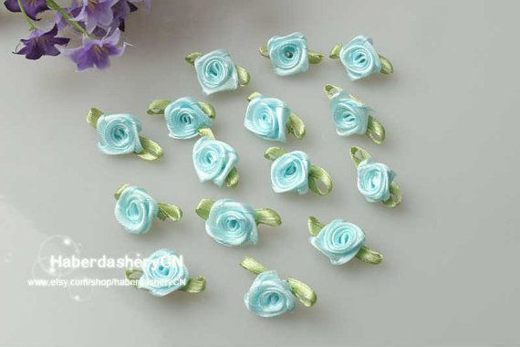 R06 baby blue FREE SHIPPING 450pcs Satin Ribbon by haberdasheryCN, $16.00