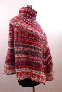 Poncho, Hand Made, kostenlose Anleitung, stricken, lana Grossa