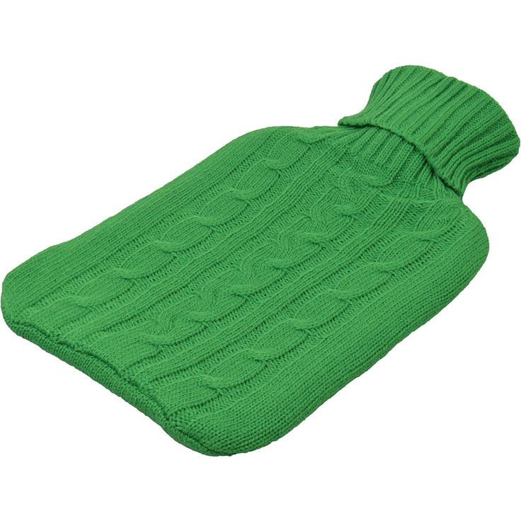 Harbour Housewares Full Size Hot Water Bottle With Knitted Cover - Green: Amazon.co.uk: Sports & Outdoors