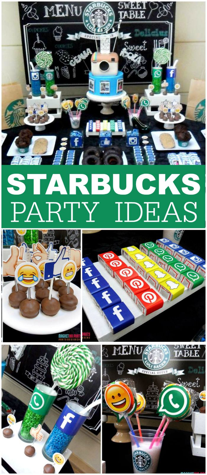 How cool is this Starbucks birthday party?! See more party ideas at CatchMyParty.com!