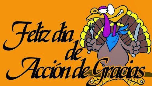 A lesson to celebrate Thanksgiving / Día De Acción De Gracias in Spanish class.