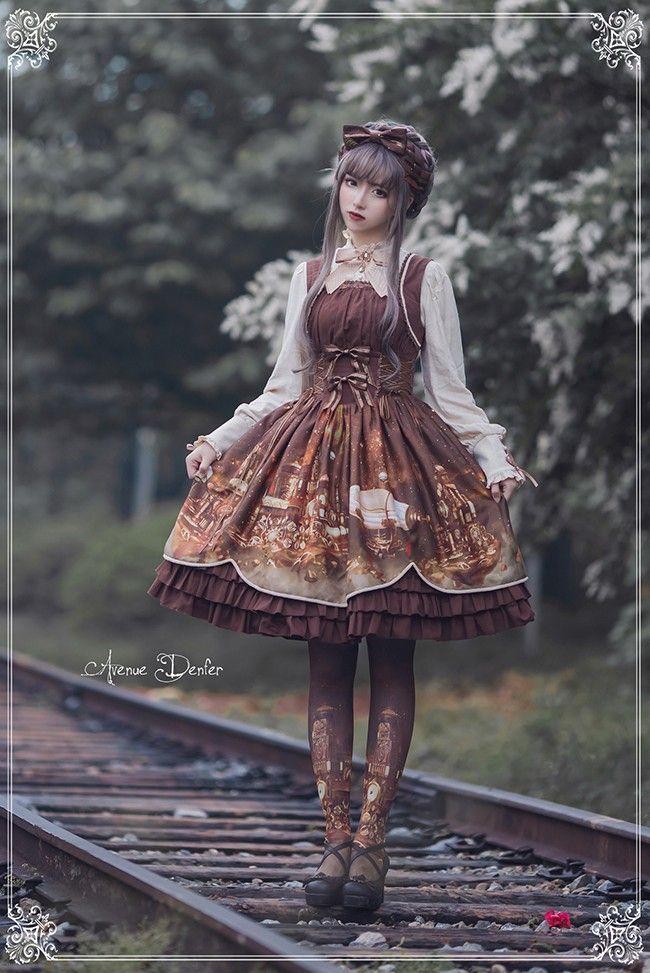 My dream dress...  Avenue Denfer -Steam Castle- Steampunk Lolita Jumper Dress