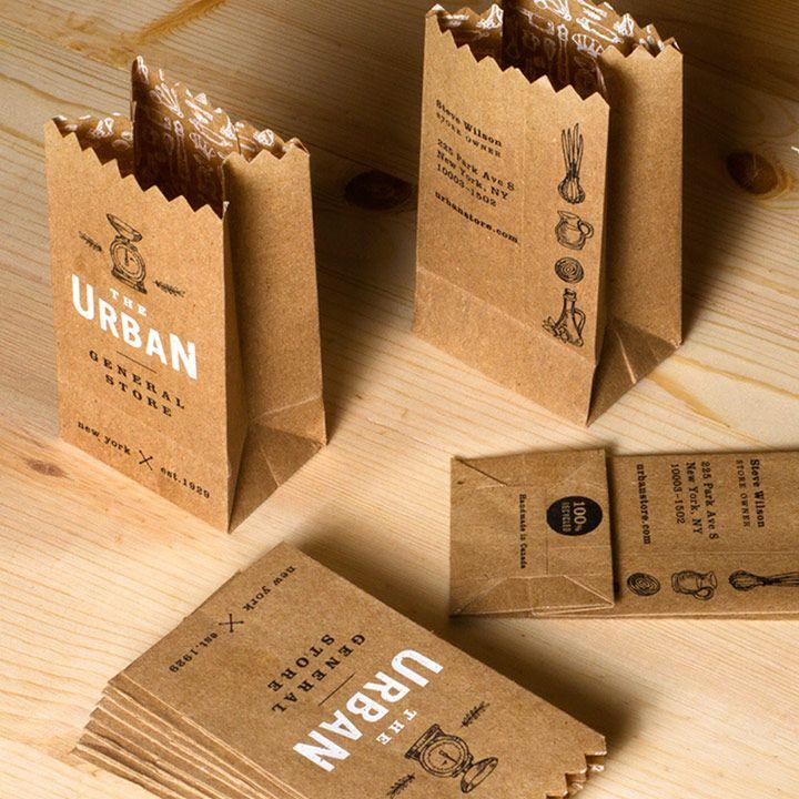 Paper Bag Business Card | JukeBoxPrint.com