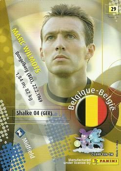 2002 Panini World Cup #29 Marc Wilmots Back