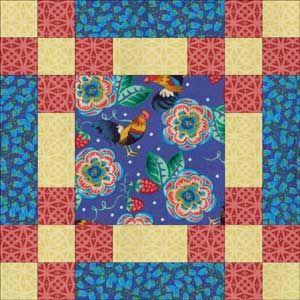 """Make Easy Rosebud Quilt Blocks that Finish at 12"""" Square: How to Make Rosebud Quilt Blocks"""
