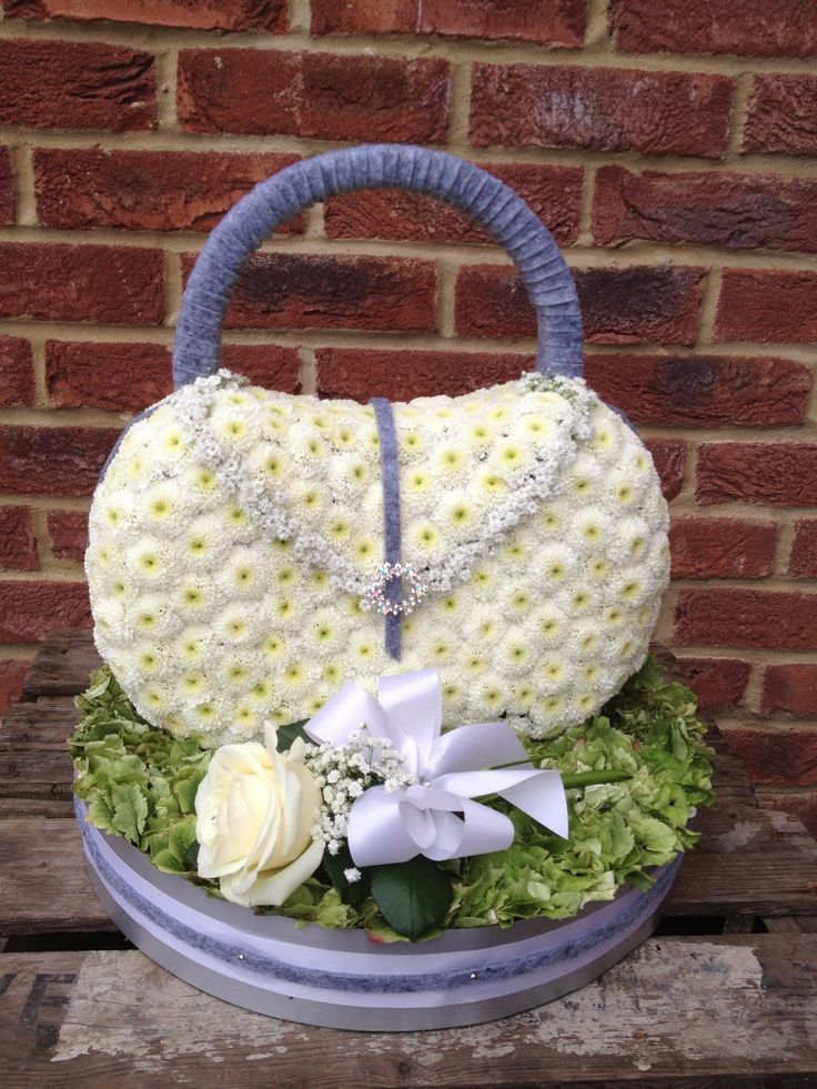 Beautiful handbag floral tribute