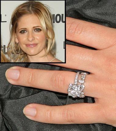 Unusual Celebrity Wedding Rings Sarah Michelle Gellar Image Credit