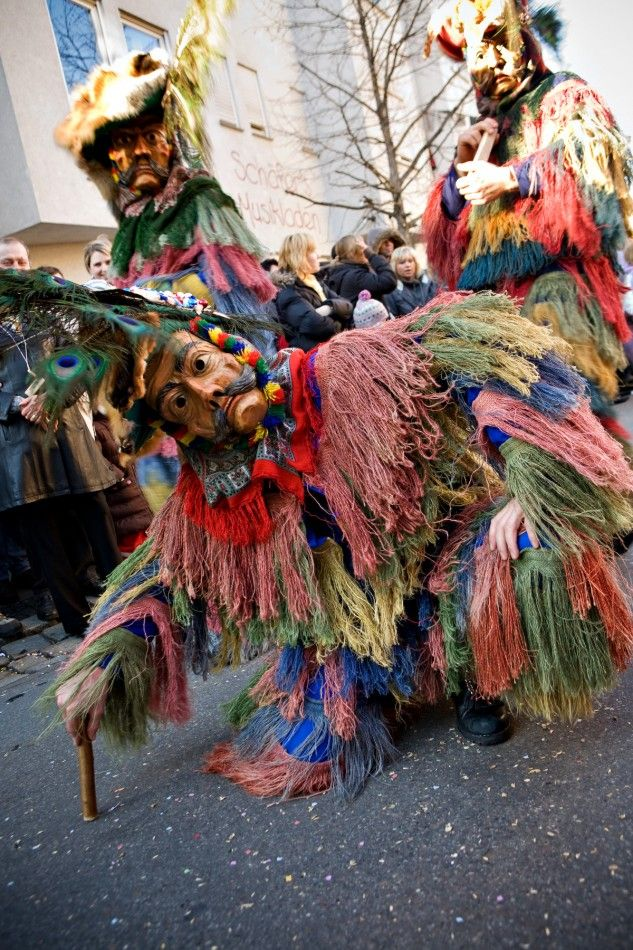 Fasching, Fastnacht, Carnival, Mardis Gras in Germany.  Traditional masks and costumes.