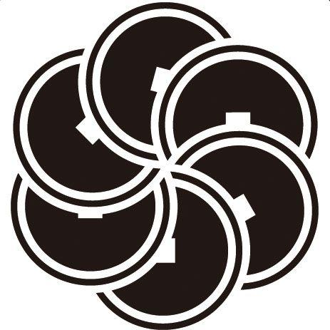 六つ捻じ銭紋 COIN
