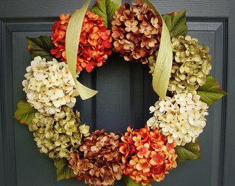 Hortensia kransen Lente kransen Portiek door HomeHearthGarden