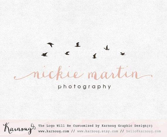 Bird Logo, Birds Logo, Photography Logo, Boutique Logo, Custom Logo, Premade…