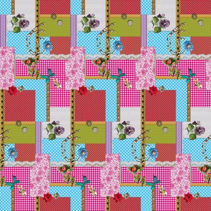 Tafelzeil Patchwork Debbie - Hip tafelzeil met patchwork print in PiP-stijl. Het tafelzeil is makkelijk afneembaar, dus ook ideaal geschikt voor mensen met kinderen. Het tafelzeil valt soepel om uw tafel en is 140cm breed.