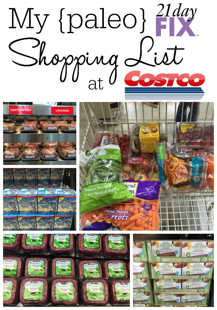 Bright And Fit: 21 Day Fix: My Paleo Costco List
