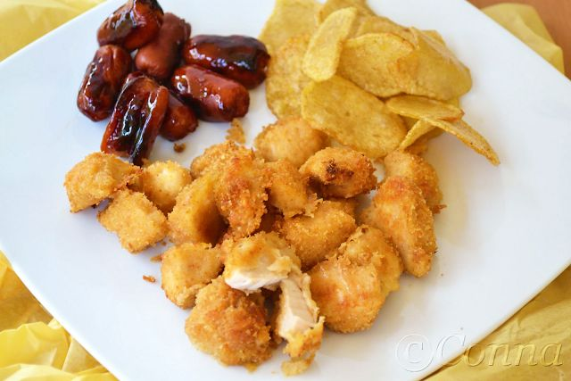 Sabor: Κοτομπουκιές στο φούρνο / Oven chicken bites
