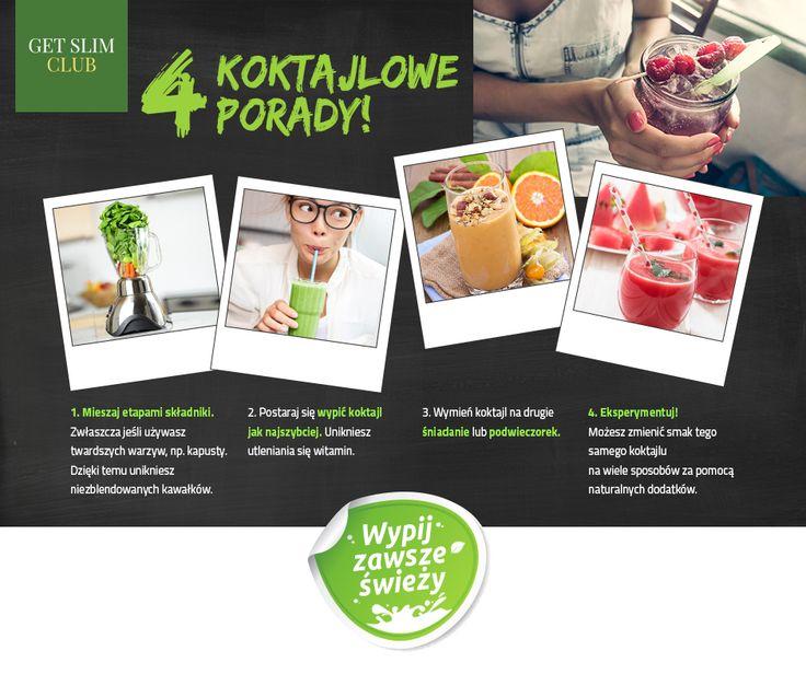 Przepis na koktajlowy sukces :).  #getslimclub #gsc #zielonekoktajle #smoothies  Po więcej porad i przepisów na wiosenne koktajle zapraszamy na www.getslimclub.com