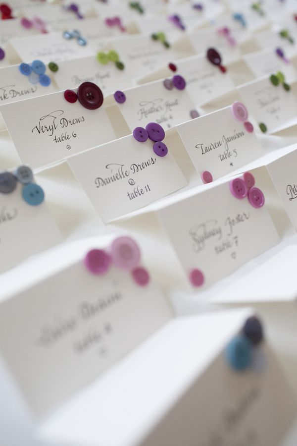 add quilling to plain table cards