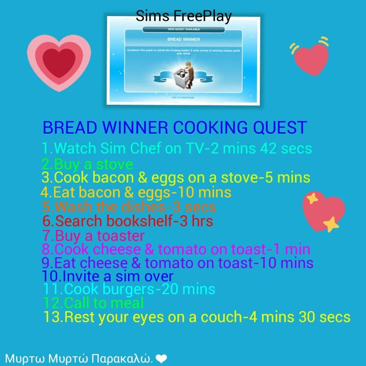 20 best sims freeplay quest guides images on pinterest sims sims freeplay breadwinner cooking quest malvernweather Image collections