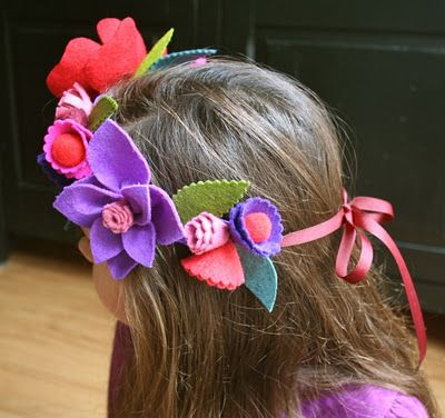 flower crown tutorial - I want to put it on a regular felt band with an elastic backing