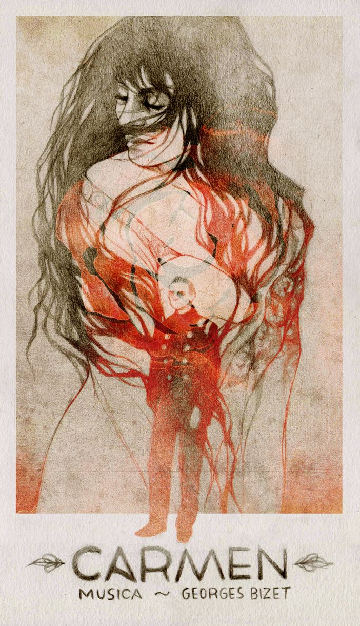 Elia Fernández - Commission poster 'Carmen', Bizet.