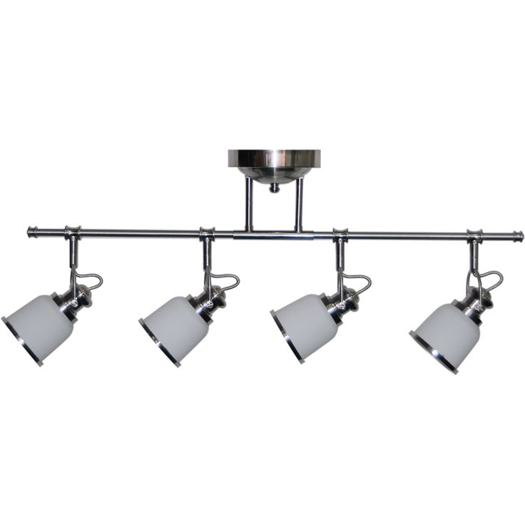 allen roth northroe 4light 315in brushed nickel led fixed track light - Track Lighting Lowes