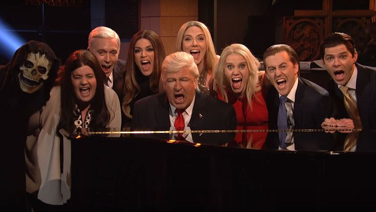"""Critic's Notebook: Dwayne Johnson Helps 'Saturday Night Live' Cap Strong Comeback Season Tom Hanks and Scarlett Johansson dropped by and Vanessa Bayer and Bobby Moynihan said """"bye"""" as 'SNL' wrapped season 42.  read more"""