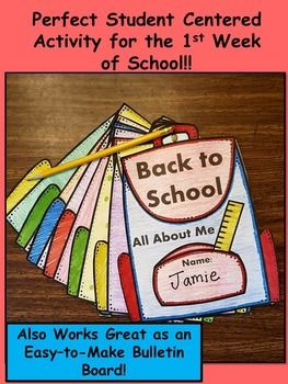 Back to School Backpack Craft!! #backtoschool #teacherspayteachers #elementary