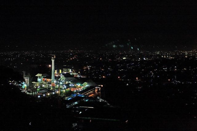 Bukit Gombel, Semarang, Indonesia. A spot to enjoy beautiful night scenery of the city Semarang.