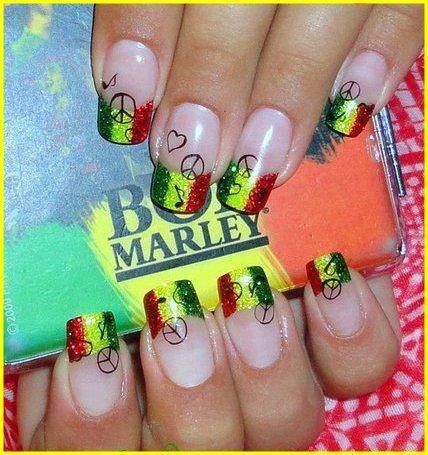 Bob Marley nails - one of my summer goals is to get these