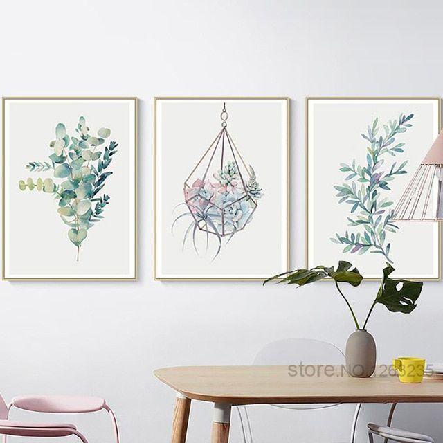 Succulent Plants Cactus Canvas Nordic Poster Canvas Wall Art Botanical Print