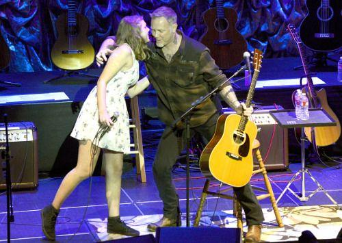 James Hetfield  and Cali Hetfield  full show at acoustic 4 a cure 15 May San Francisco 2015