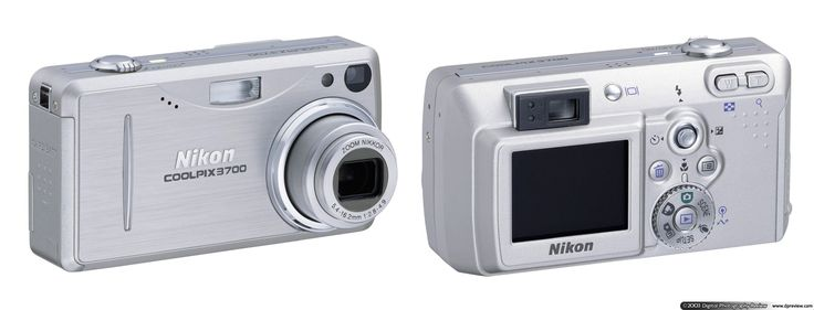 Nikon    today announced the new ultra-compact aluminium bodied Coolpix 3700. The    Coolpix 3700 has a three megapixel sensor and three times optical zoom,    it's also the first Coolpix to use Secure Digital for storage and is powered    by a Lithium-Ion rechargeable battery. Nikon are clearly going for style    and design with this camera, without being too 'way out'. One unique feature    of the 3700 is 'sound release' which allows you to put the camera in a    sort of...
