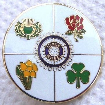 Not surprisingly, the national emblems often feature on badges, and the badges relate to an astonishing range of activities.  This modern one is for the Rotary Club Inner Wheel.