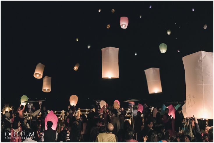 Whispers In The Night Sky | Priyanka & Kush's Mehendi Night in Udaipur | Toronto & Udaipur Destination Wedding Photographer | OOTTUM FINE PHOTOGRAPHY | www.oottum.com | chinese wish lanterns, south asian wedding, hindu ceremony, mehendi, henna, india, udaipur, night sky, love, stars