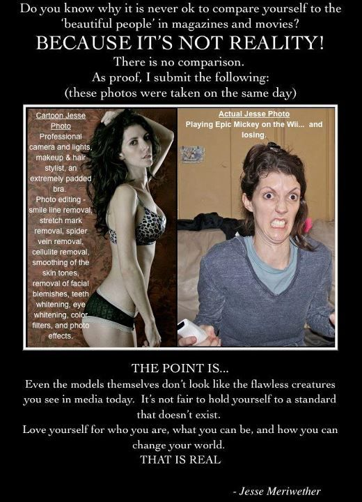 A woman posts two pictures of herself, taken the same day. Hilarious and sobering.