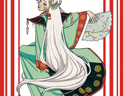 """Check out new work on my @Behance portfolio: """"Cinese fantasy Girl with kimono"""" http://be.net/gallery/53942065/Cinese-fantasy-Girl-with-kimono"""