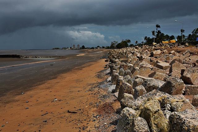 Kingston seawall - Georgetown, Guyana, South America