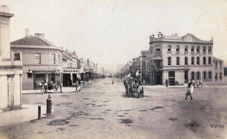 Johnston's Family Hotel, Oxford Street, Sydney, Australia 1875 v@e
