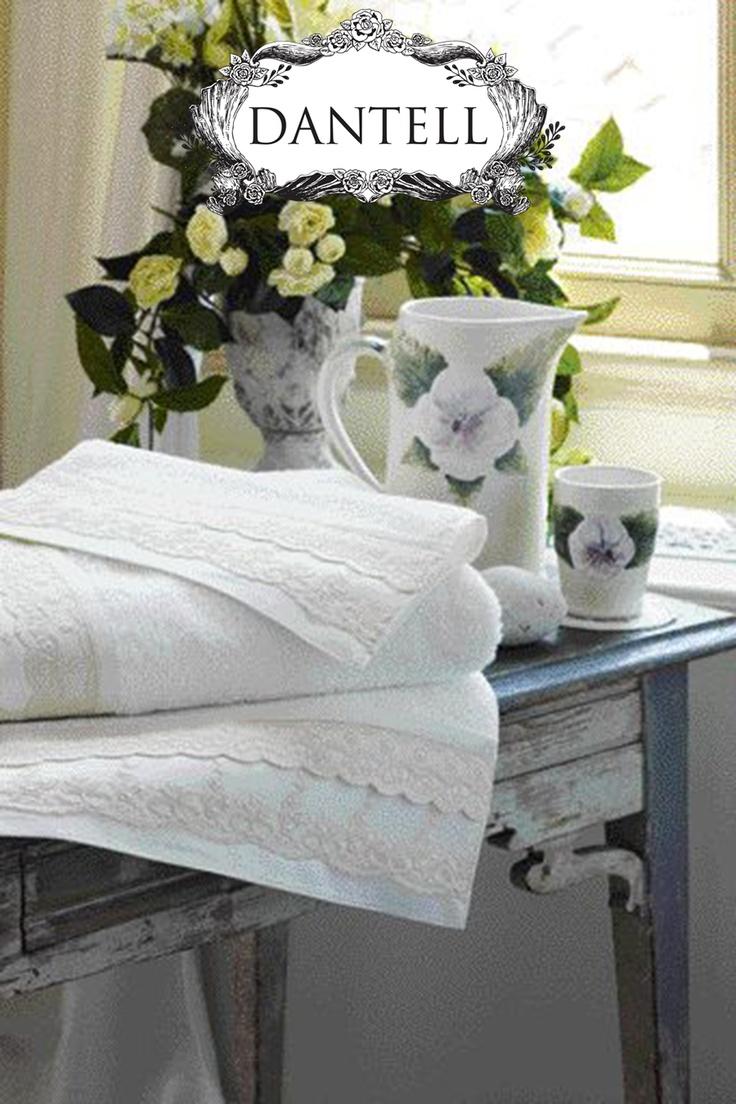 Feel the Spring with flowers in your bathroom...  #dantell #dantellbrand #hometextile #idea #fashion #design #decor #towel #bathroom