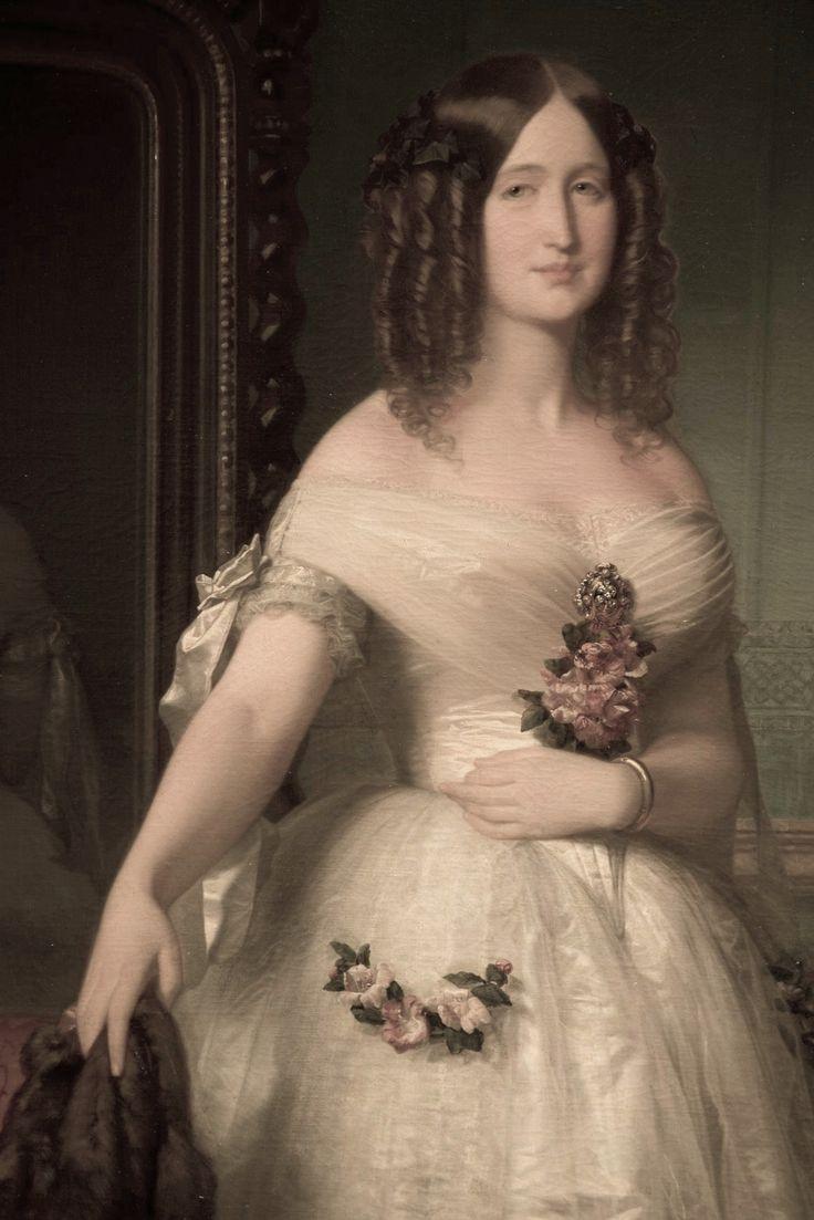 1849 La Eugenia que enamoro a Napoleon III by Federico Madrazo y Kunz (private collection) out take